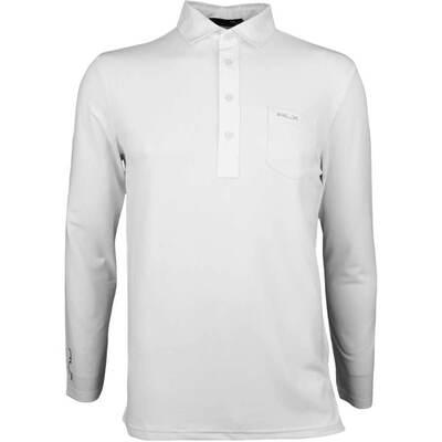 RLX Golf Shirt LS Tech Pique Pure White AW17