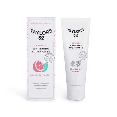 Taylor's 32 Natural Whitening Toothpaste Grapefruit & Mint 75ml