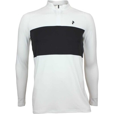 Peak Performance Golf Shirt LS Base Layer White AW17