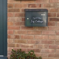 Taylor Anthracite Grey Letterbox personalised with your address