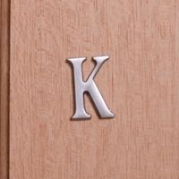 Self Adhesive 40mm Aluminium Letter K