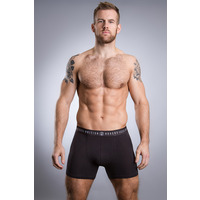 Image of British Boxers Coal Black Stretch Trunk