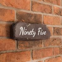 Slate paddlestone number sign - large