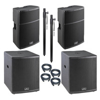 """Large 4400 Watt Active PA System 15"""" Tops & 18"""" Subs"""