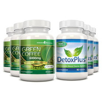 Image of Green Coffee Bean Extract 6000mg Detox Combo Pack - 3 Month Supply