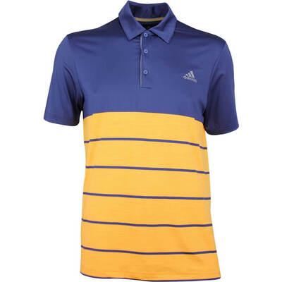 Adidas Golf Shirt Ultimate 365 Heather Stripe Indigo SS18
