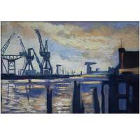 """Image of """"The Cranes"""" Govan/Glasgow, The River Clyde â€"""" Signed Limited Edition Print"""