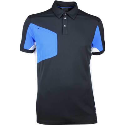 Galvin Green Golf Shirt MANNIX Black Kings Blue SS18