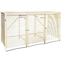 Charles Bentley Wooden Triple Bin Store