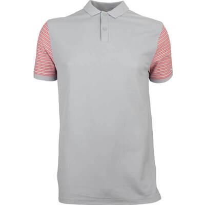 Nike Golf Shirt NK Dry Pique Stripe Wolf Grey SS18