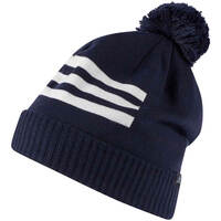 Image of Adidas Golf Hat - 3 Stripes Pom Beanie - Collegiate Navy AW18