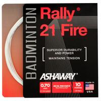Ashaway Rally 21 Fire Badminton String Set - White