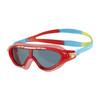 Image of Speedo Biofuse Rift Junior Swimming Goggles - Blue/Red
