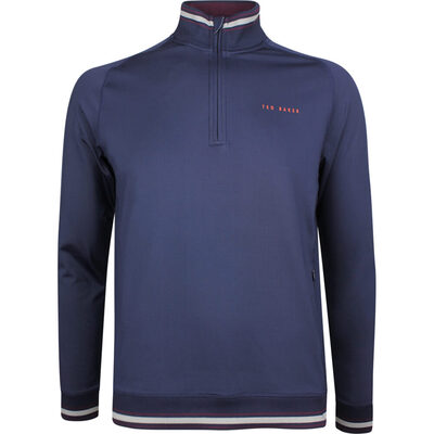 Ted Baker Golf Pullover Comp QZ Navy AW18