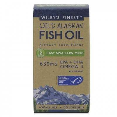 Wiley's Finest Fish Oil Easy Swallow Minis 60 Capsules