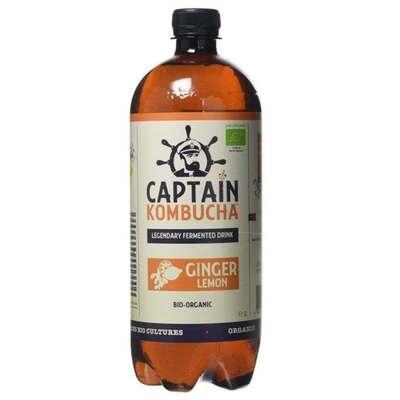 Captain Kombucha Bio-Organic Ginger & Lemon Kombucha 400ml