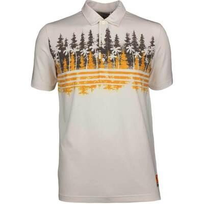 PUMA Golf Shirt Play Loose Pines Polo Chocolate LE SS19