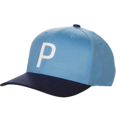 PUMA Golf Cap Throwback P 110 Snapback Azure Blue SS19