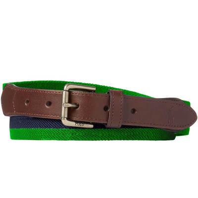 Ralph Lauren POLO Golf Belt Stretch Web Stripe Green SS19