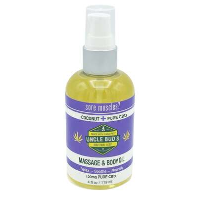 Uncle Buds Pure CBD Massage & Body Oil 120ml