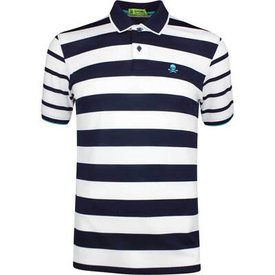 GFORE Golf Shirt Skull Stripe Polo Twilight SS19