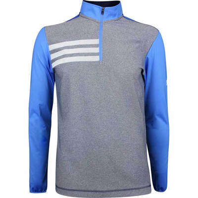 Adidas Golf Pullover 3 Stripes Competition QZ True Blue SS19