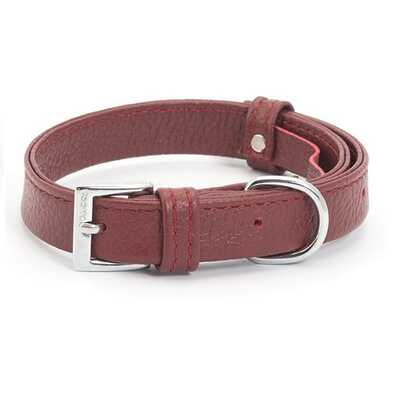 Ancol Indulgence Folded Leather Dog Collar