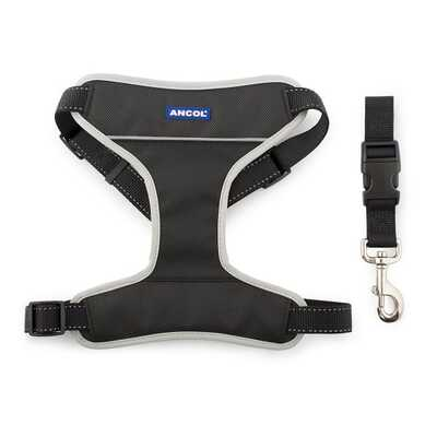 Ancol Travel & Exercise Harness - Black