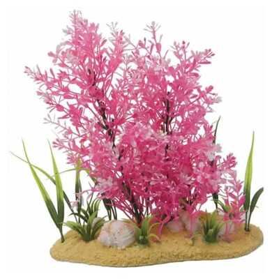 Fish 'R' Fun Aquarium Plastic Plant / Sanded Base - 28cm / 11