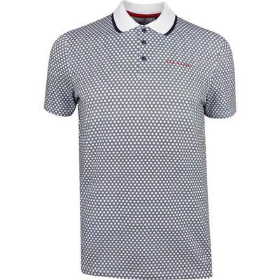Ted Baker Golf Shirt Hazelnt Geo Polo Navy SS19