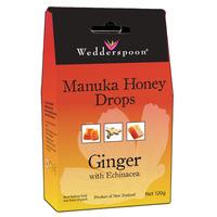 Natural Manuka Honey Drops Ginger 120g