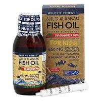 Wild Alaskan Fish Oil Beginners DHA for Kids 650mg 125ml