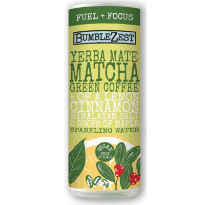 Bumblezest Yerba Mate, Matcha & Green Coffee Sparkling Water 250ml
