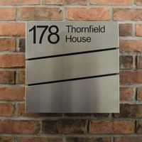 Stainless Steel Letterbox - The Statement - Personalised