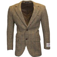 Harris Tweed Mens Desert Tan Herringbone Checked Blazer / Jacket - 38