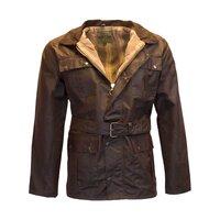 Walker & Hawkes Brown Men's Wax Belted Jacket  / Coat - S
