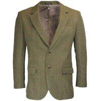 Walker & Hawkes Mens Windsor Dark Sage Tweed Country Blazer / Jacket - 38