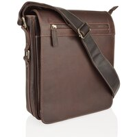 Woodland Leather Burnish Buffalo Leather Messenger Bag - Burnish
