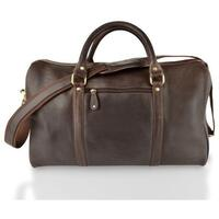 Woodland Leather Soft Cabin Leather Holdall (Multiple Colours) - Brown