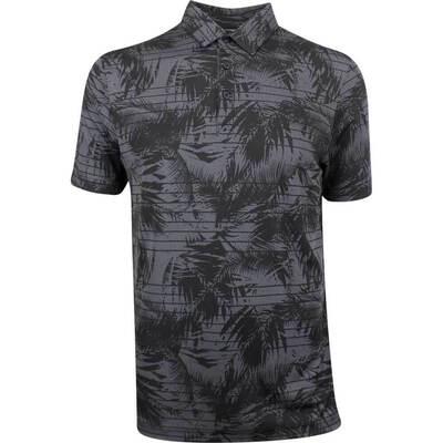 TravisMathew Golf Shirt Plus One Polo Black Floral SS19