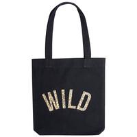 Wild Leopard Tote Bag - Black
