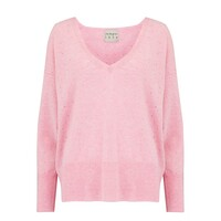 Holy Vee Cashmere Sweater - Pink Marl