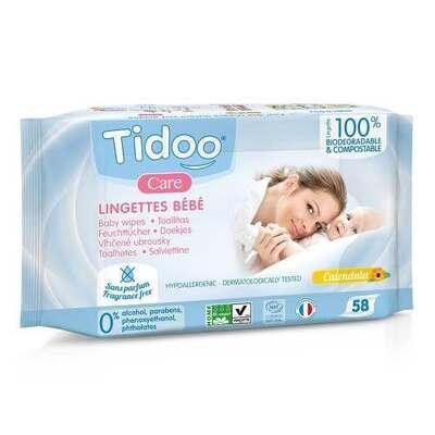 Tidoo Natural Perfume Free Compostable Wipes