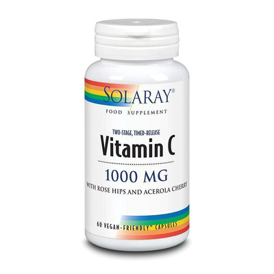 Solaray Vitamin C 1000mg Two Stage Time Release 60 Capsules