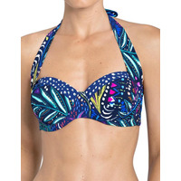 Triumph 10167481 Triumph Painted Leaves WDP Wired Padded Bikini Top 10167481 Blue/Dark Combination 10167481 Blue/Dark Combination