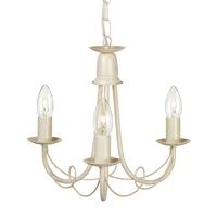 Elstead Lighting &pipe; Minster 3 Light Chandelier - Ivory Gold
