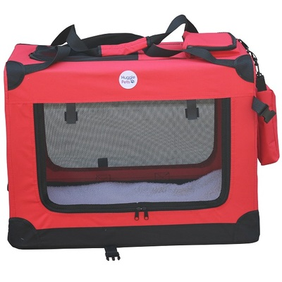 HugglePets Fabric Crate Foldable Pet Carrier