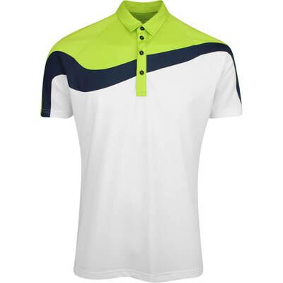 Galvin Green Golf Shirt Magnum White Lime AW19