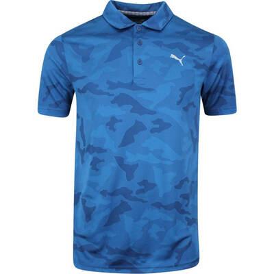 PUMA Golf Shirt Alterknit Camo Gibraltar Sea AW19