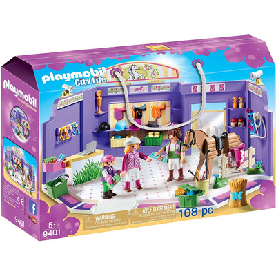 Playmobil Horse Tack Shop With Wooden Horse